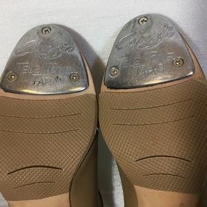 Capezio Tele Tone Tap Tan Maryjane Shoes 6.5